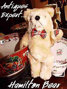 Antiques Expert Hamilton Bear identifies antique eighteenth century Chinese porcelain Mandarin pattern punch bowl and Staffordshire New Hall cottage sprigs pattern teabowl and saucer